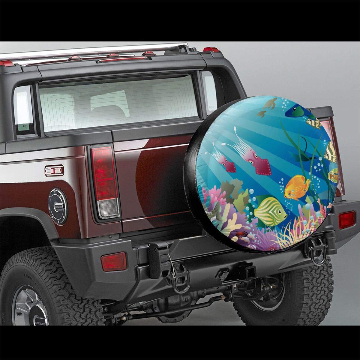 Pokuisnb Sunscreen Fish Tank Aquarium Alphabet Spare Tire Covers for All Cars 17 Inch by Pokuisnb (Image #2)