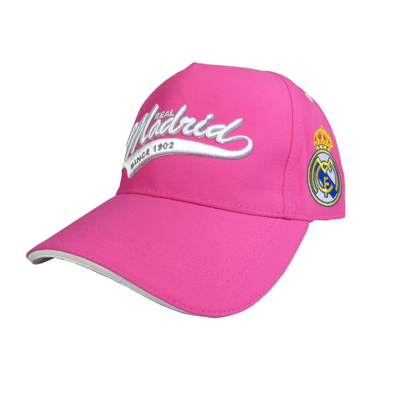 GORRA OFICIAL - REAL MADRID - ROSA ADULTO COTTON LIKE: Amazon.es ...