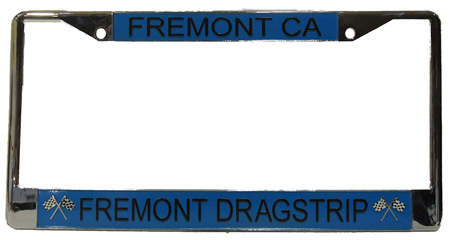 Kool Collectibles Fremont Dragstrip Fremont CA License Plate Frame Metal Chrome