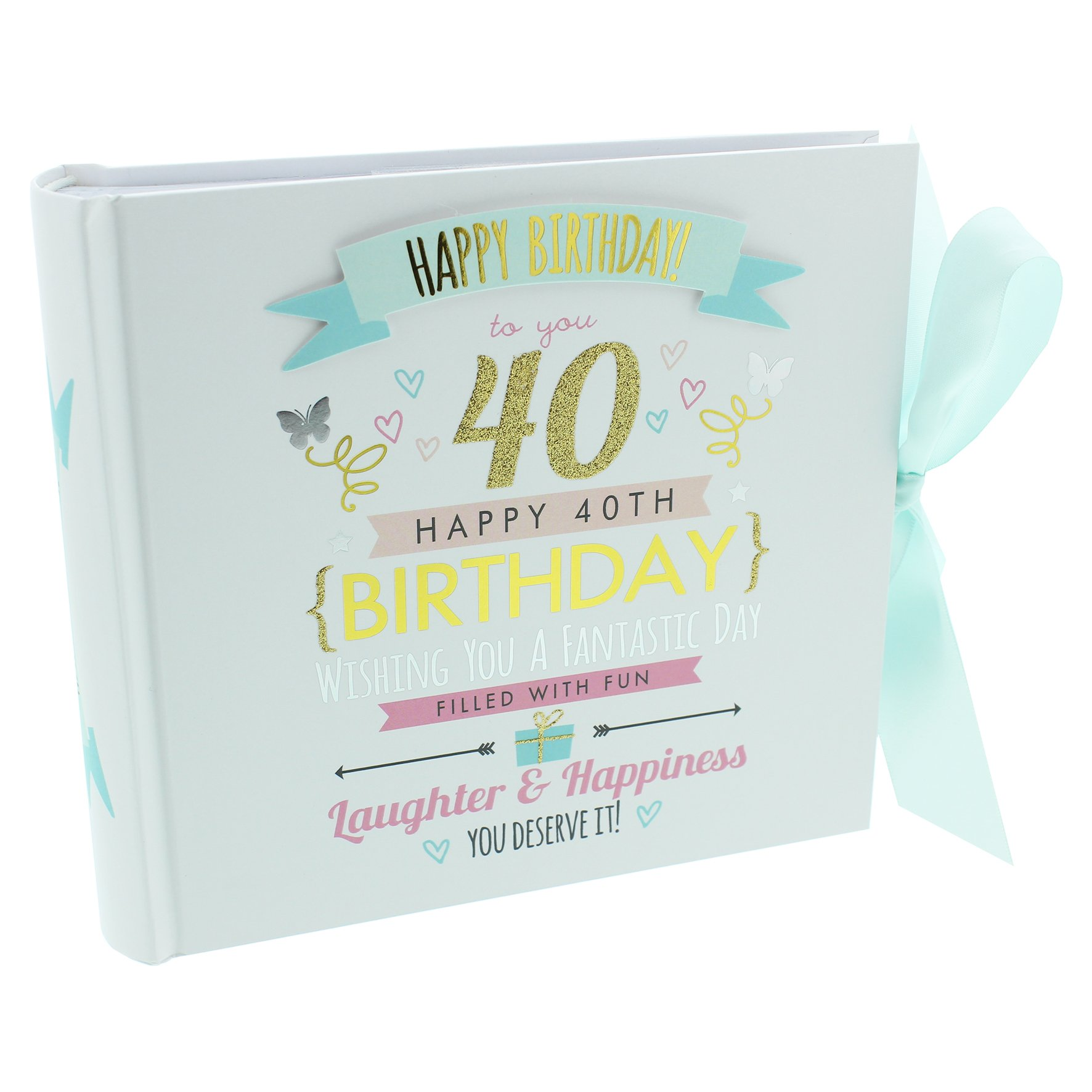Oaktree Gifts 40th Birthday Girl Photo Album Hold 4 x 6