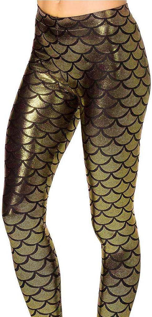 Ladies Girls Plus Size Legging Tight Fish Marmaid Halloween Camoflage Fancy Wear