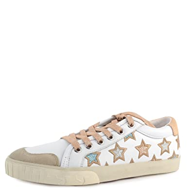 d24926f78dfed Ash Majestic Star Motif Trainers White Leather & Pony Hair 41 White ...