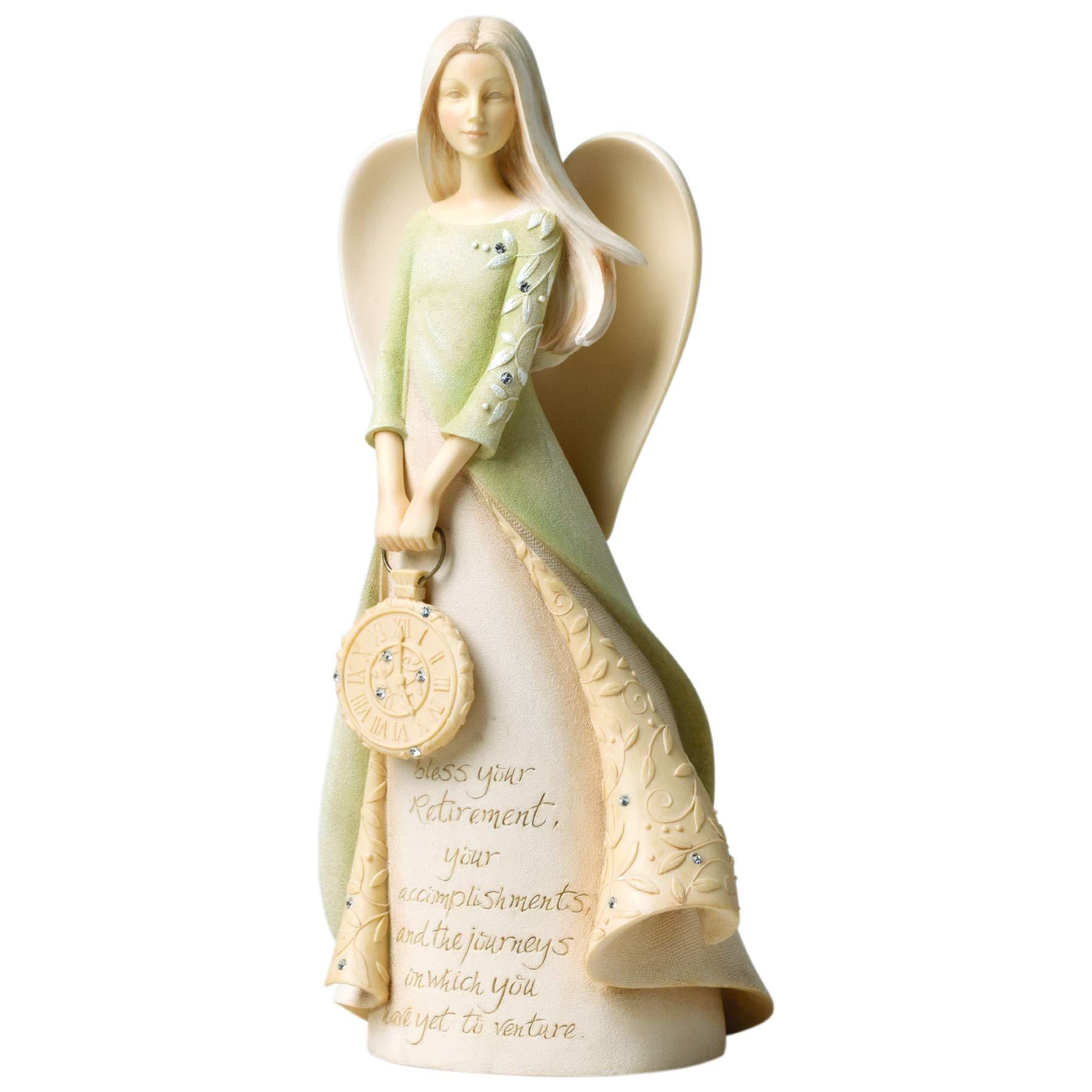 Enesco Foundations Retirement Angel Stone Resin Figurine, 9'' by Enesco