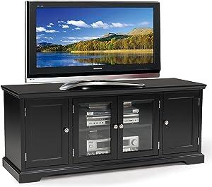 Leick Black Hardwood TV Stand, 60-Inch