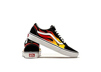 c207764449 Image Unavailable. Image not available for. Colour  Vans Old Skool Flame OG  Black True White Size 7.5
