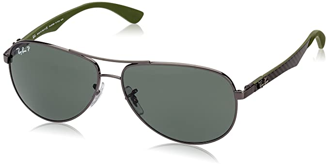 9628bb738d9 Amazon.com  Ray-Ban Men s Carbon Fibre Polarized Aviator Sunglasses ...