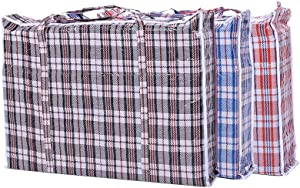 "Set of 3 Jumbo STORAGE LAUNDRY SHOPPING Bags with Zippers and Handles. Size 27""x25""x5"""