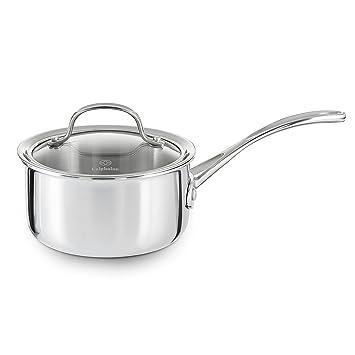 Calphalon Tri-Ply Stainless Steel 1-Quart Open Sauce Pan: Amazon.es: Hogar
