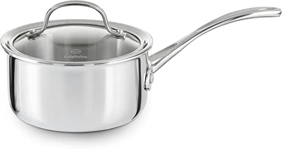 Calphalon Tri-Ply Stainless Steel 1-1/2-Quart Sauce Pan with Cover