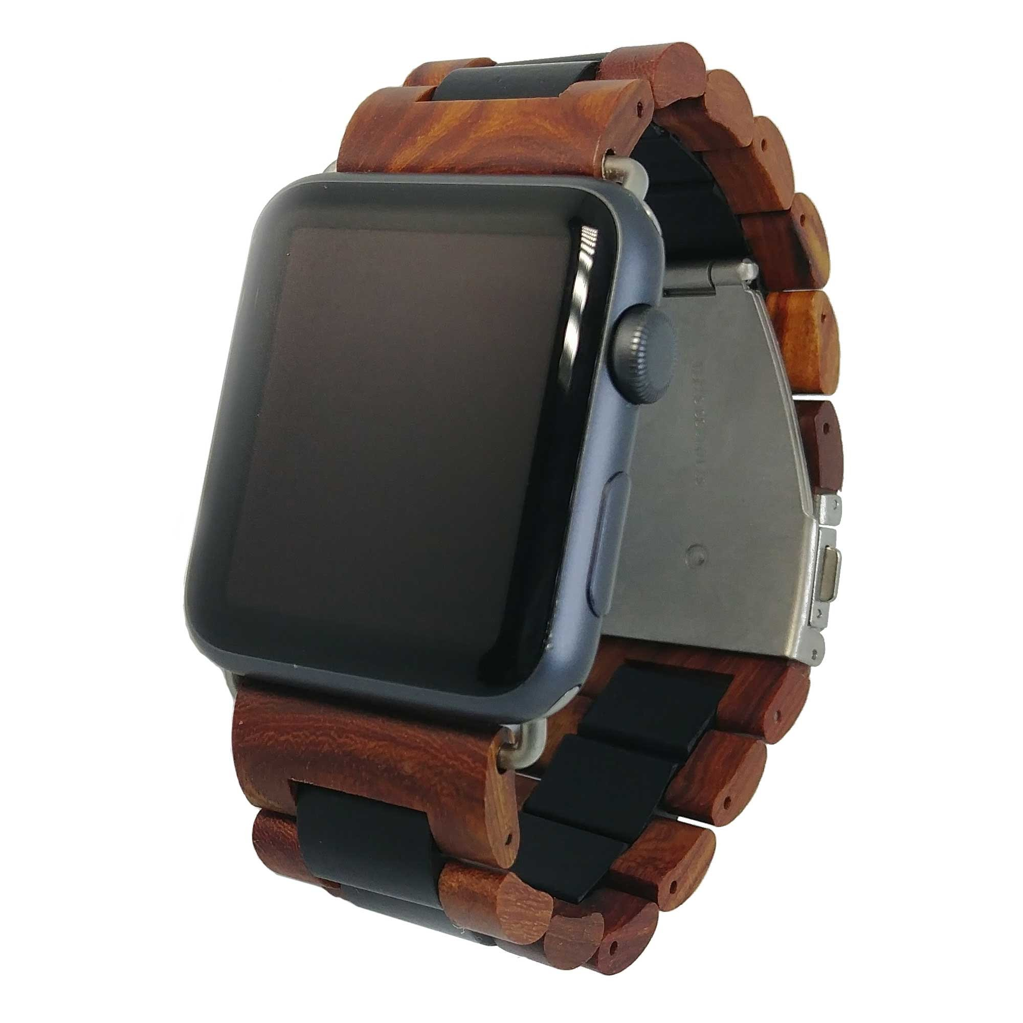 Ottm Apple Watch Band - 42 mm Unique Hardwood Watch Strap for Apple iWatch with Extra Links and Tool for Resizing (Sandalwood) by Ottm