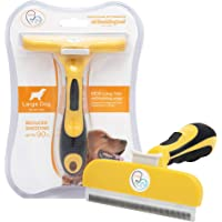 Pet Cat and Dog Grooming Brush Tool Effectively Reduce Shedding Up to 90% Professional Deshedding and Dematting No More Nasty Shedding Flying Hair Easy to Remove Tangles Fur and Hair for Dogs Cats