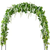 mavee 4 Pcs 7.2 Feet Artificial Flower Vine Silk Wisteria Garland Hanging Rattan...