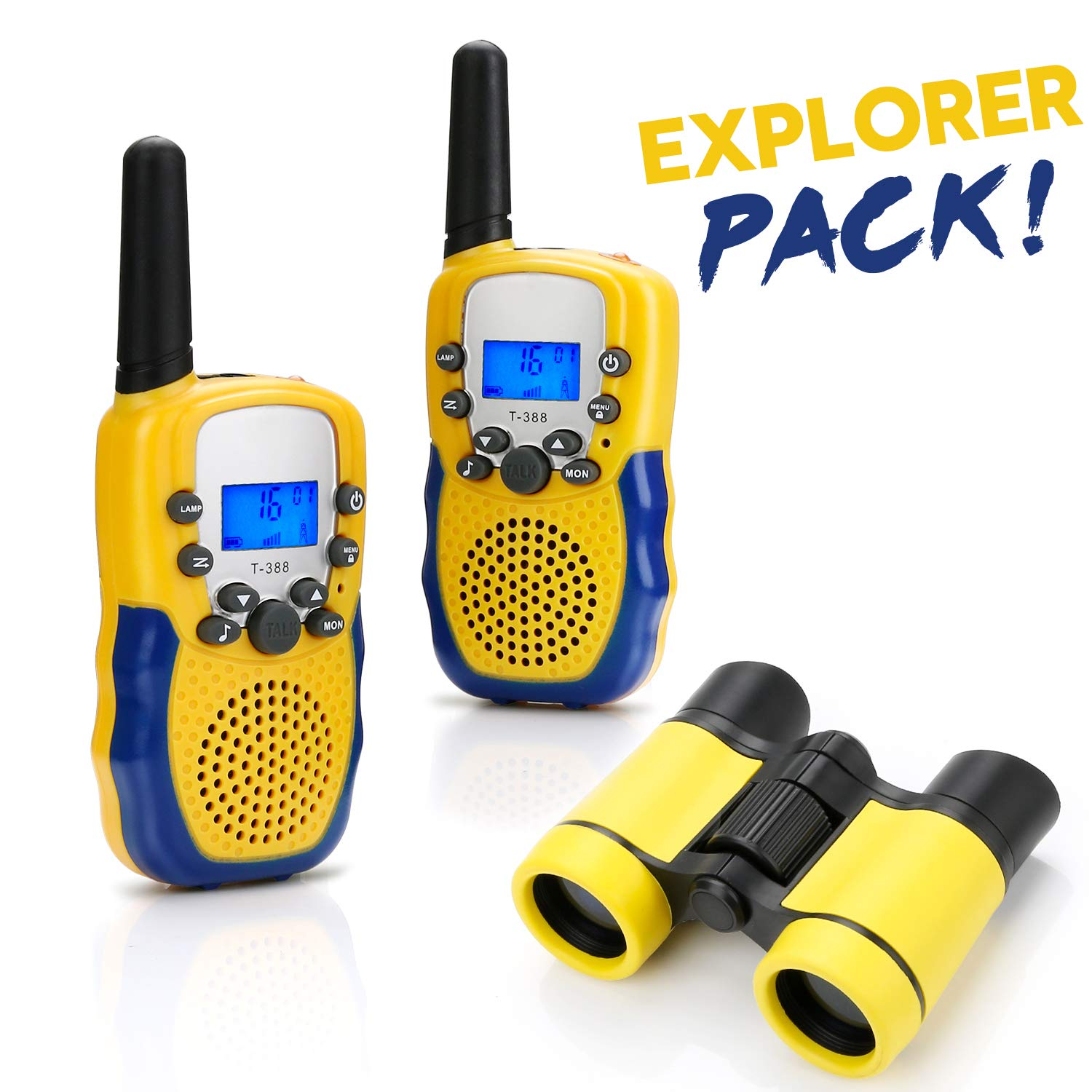 BBLIKE Walkie Talkies Toys Set for Kids 1Binoculars + 2 Whistle + 2 Long Range Walkie Talkie and Straps + 1 Storage Bag, with Flashlight and LCD Screen for Toddler Boys Girls Adults by BBLIKE (Image #1)