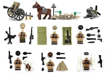Figura del torso soviético conjunto con equipo de guerra y arma compatible con Legos: Amazon.es: Juguetes y juegos