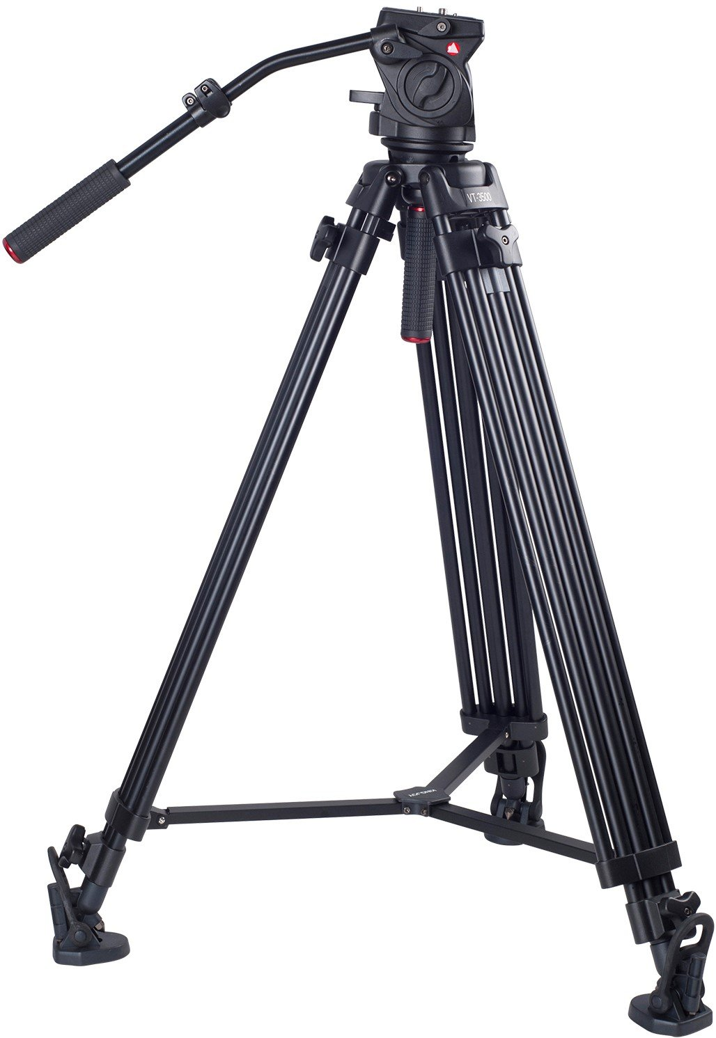Kingjoy Professional Video Tripod, Heavy Duty Tripod System with 360-Degree Panoramic Fluid Head, Max Height 79 Inches, Load up to 44 LBS for DSLR Camcorder Video Shooting Photography.