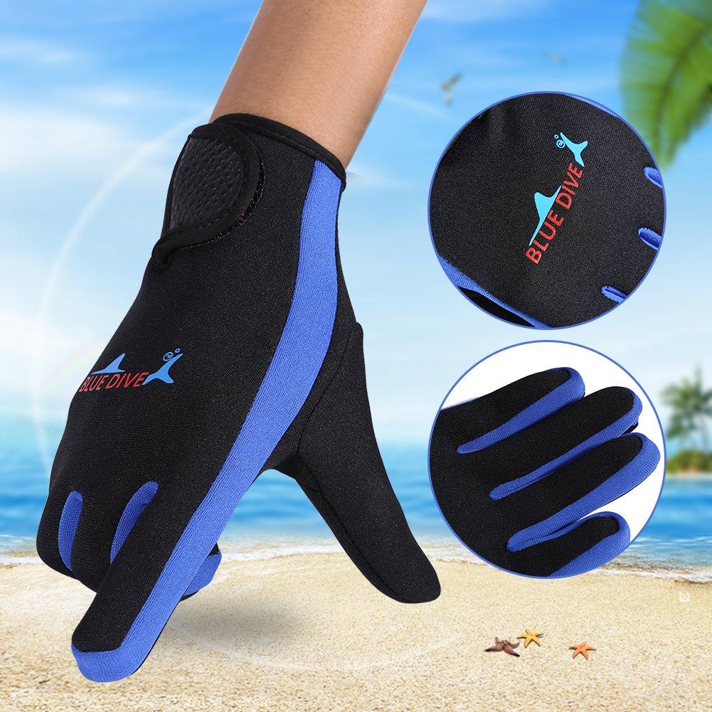 Diving Gloves Aramox Neoprene Wetsuit Five Finger Gloves for Men Women Snorkeling Swimming Kayaking Diving Surfing