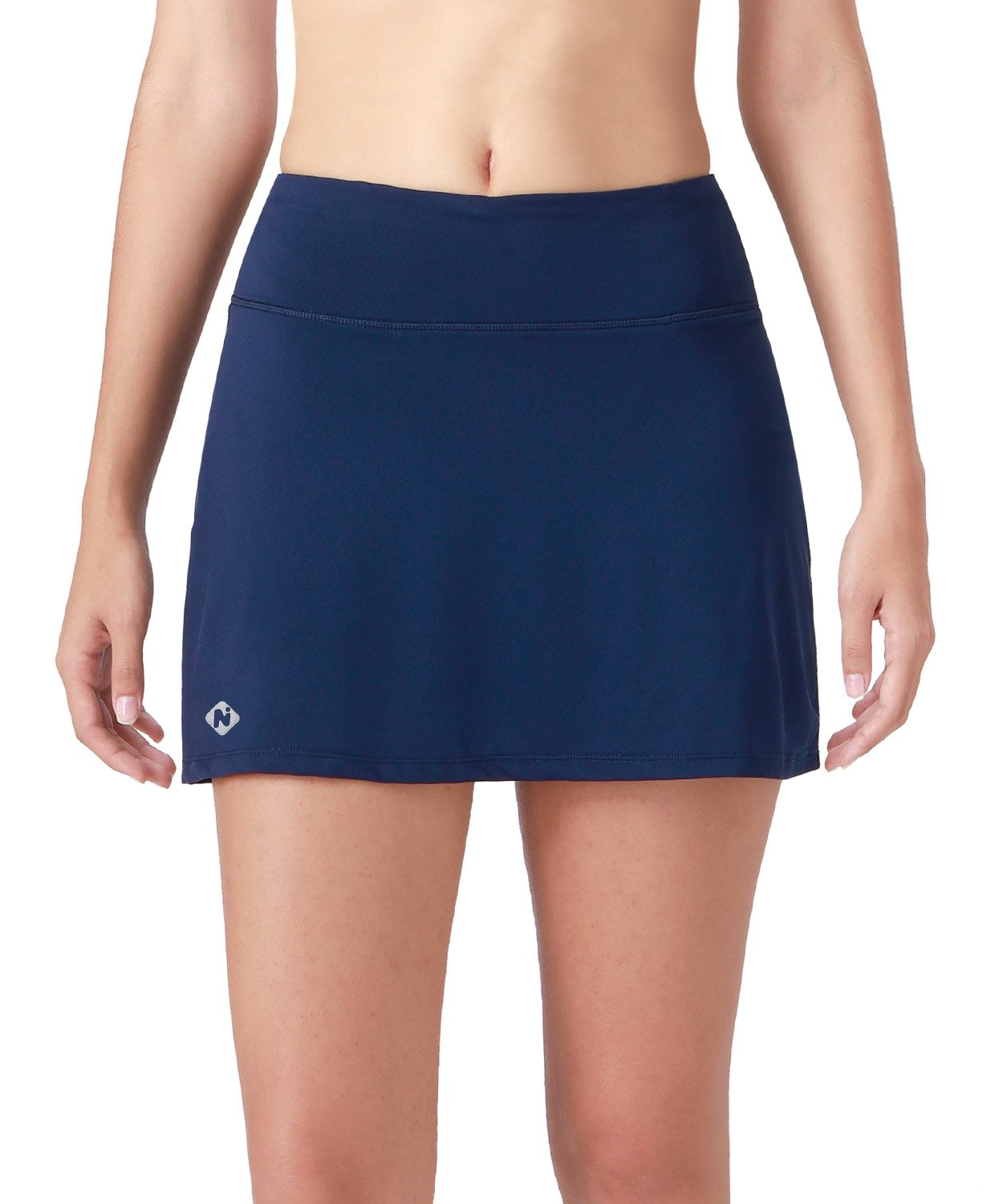 Naviskin Women's Active Athletic Skort Lightweight Skirt with Pockets Inner Shorts Perfect for Running Golf Tennis Workout Casual Use Navy Size S by Naviskin