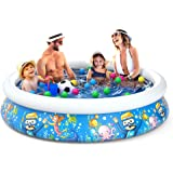 Jasonwell Inflatable Kids Kiddie Pool - Wading Pool for Toddler Durable Swimming Pool Family Above Ground Pool Summer Outside