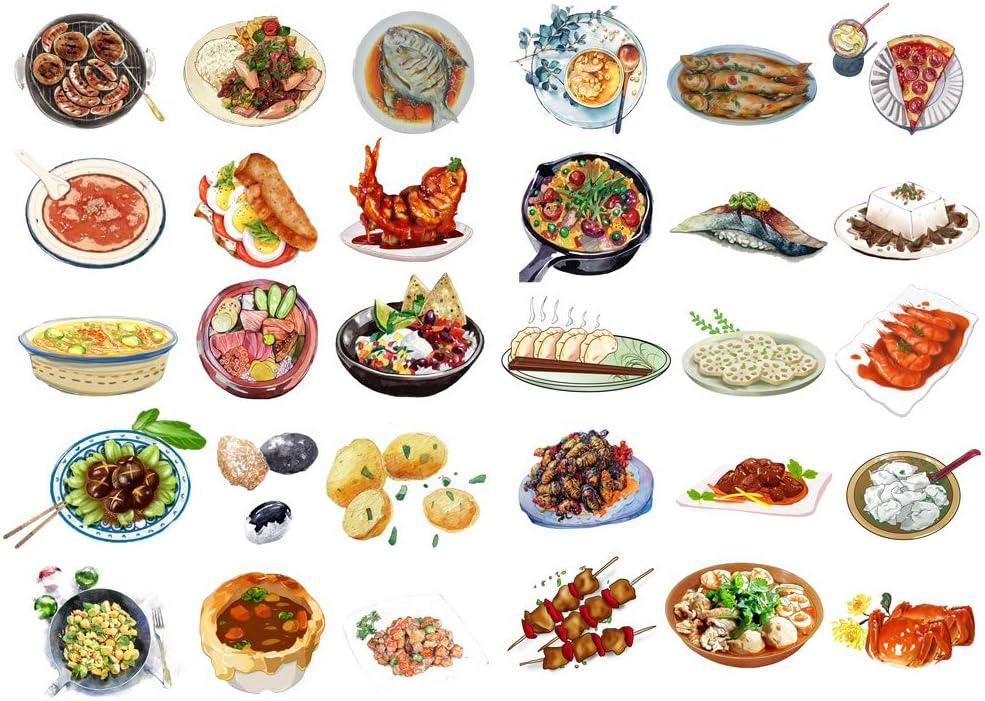 Seasonstorm Chinese Dinner Food Menu Aesthetic Diary Travel Journal Paper Stickers Scrapbooking Stationery School Office Art Supplies (PK522)