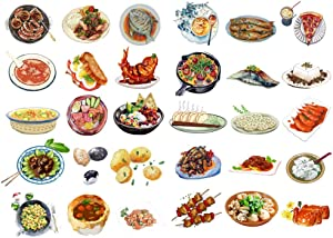 Seasonstorm Chinese Dinner Food Menu Aesthetic Diary Travel Journal Paper Stickers Scrapbooking Stationery School Office Art Supplies (PK522)