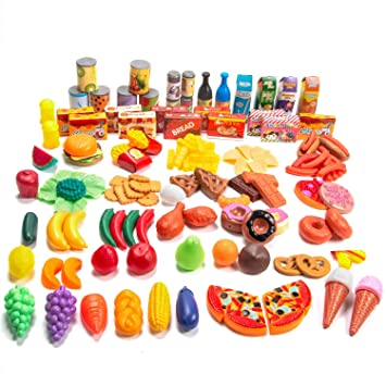 Sumile Play Toy Foods 139pcs Play Food Toys Role Kitchen