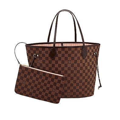 8becc2711f4 Amazon.com: Louis Vuitton Damier Canvas Neverfull MM Rose Shoulder Handbag  Article: N41603 Made in France: Shoes