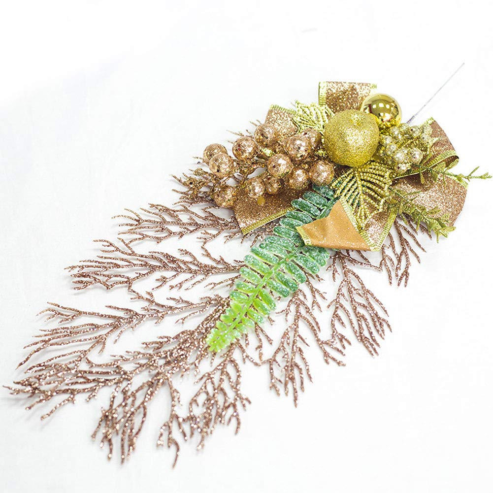 WillowswayW クリスマスツリーオーナメント クリスマス人工葉 蝶結び 家庭装飾 One Size B07KKKLXVT ゴールド One Size