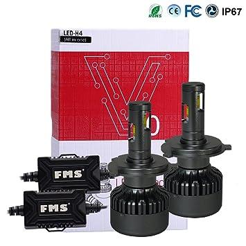 FMS 2 * H4 9003 HB2 LED Faro Bombillas LED Coche Kit, Moto Alquiler de