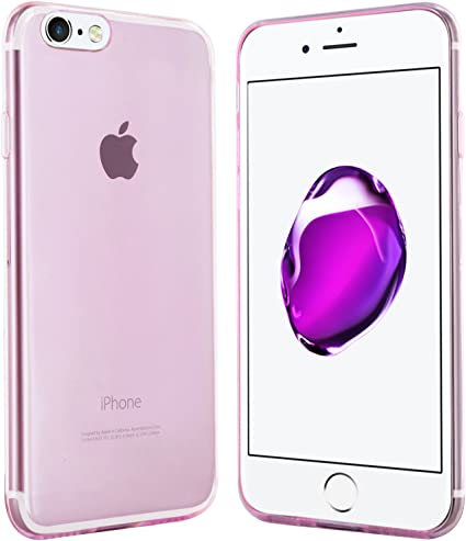 Coque iPhone 7 / iPhone 8 Violet-Transparent - moodie Case Cover Silicone Protection pour Apple iPhone 7 et iPhone 8
