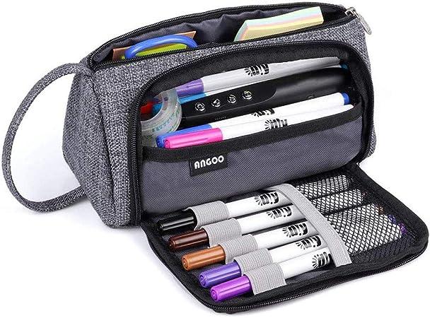 Estuche de gran capacidad, estuche para lápices, estuche para bolígrafos, bolsa de almacenamiento grande, bolsa para