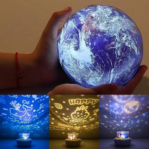 Proyector de luz nocturna para niños, proyector universo planeta ...