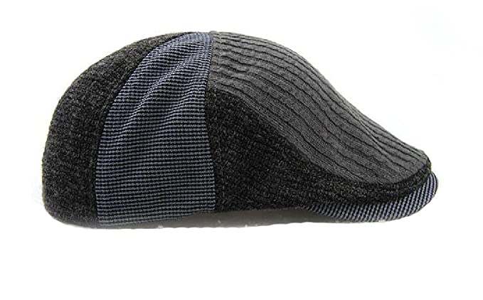 114cd49192f ... italy mens knitted wool duckbill hat warm newsboy flat scally caps sun  hat 3 free size
