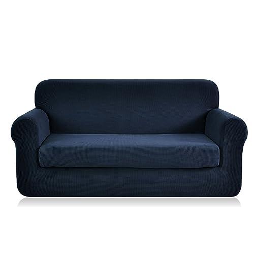Ordinaire CHUN YI 2 Piece Jacquard Polyester Spandex Sofa Slipcover (Sofa, Dark Blue)