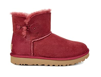 21d816a872eb UGG Australia Femme Mini Bailey Button II Suede Redwood Bottes 37 EU