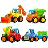 Kids Choize Unbreakable Engineering Automobile Construction Car Machine Toys Set - Multi Color (Set Of 4)