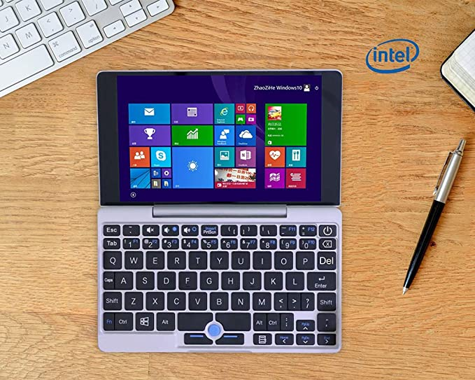 New GPD Pocket 7 Inch Mini Laptop + Windows 10 System + Aluminium Shell + CPU x7-Z8750 8GB/128GB (Silver): Amazon.es: Electrónica
