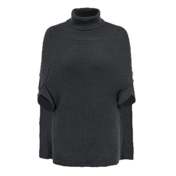 Fashion Turtleneck Knitted Sweater Top Women Casual Solid Half Sleeve Pullover