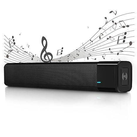ELEGIANT Altavoces Bluetooth Barra de Sonido Bluetooth 4.1 Altavoz Inalámbrico 20W Estéreo con Potente Subgrave duración