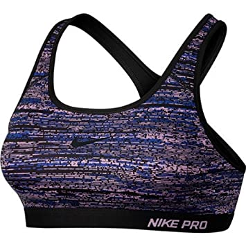 eac02290d3 NIKE Pro Classic Padded Static Ladies Sports Bra - Purple Black - XS   Amazon.co.uk  Sports   Outdoors