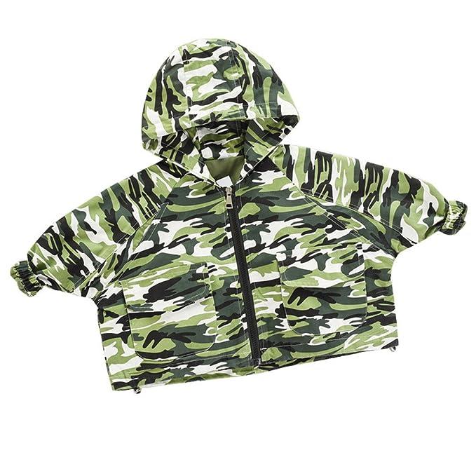 Yannerr Niños niñas chicos invierno trinchera abrigo chaqueta Cazadora outwear parka (100, Verde)