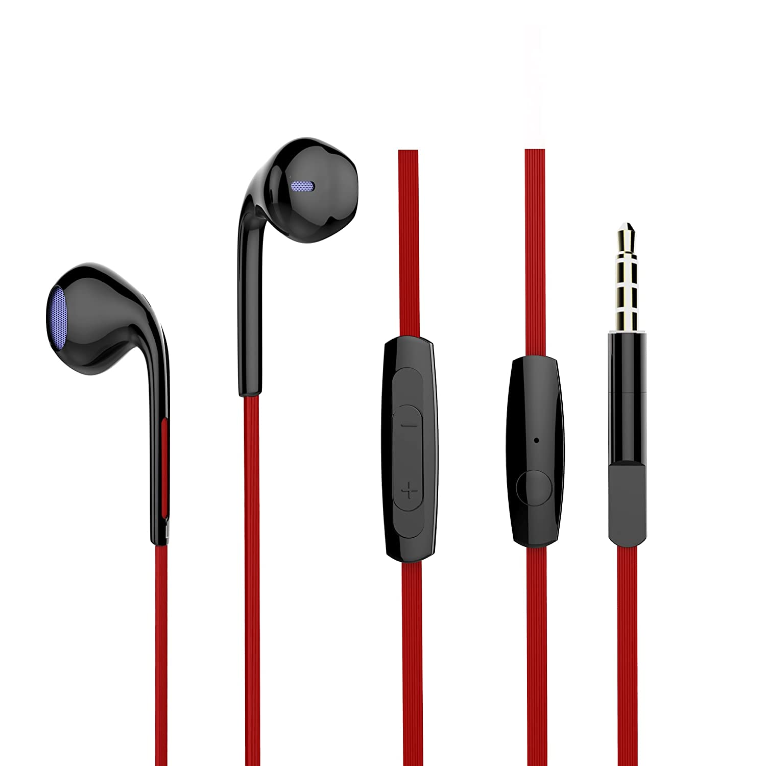 Vomercy Headphones In-Ear Earbuds with Microphone Stereo Wired iPhone Earphones