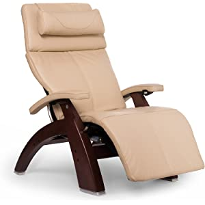 "Perfect Chair ""PC-610 Omni-Motion Classic"" Premium Full Grain Leather Zero Gravity Recliner, Ivory"