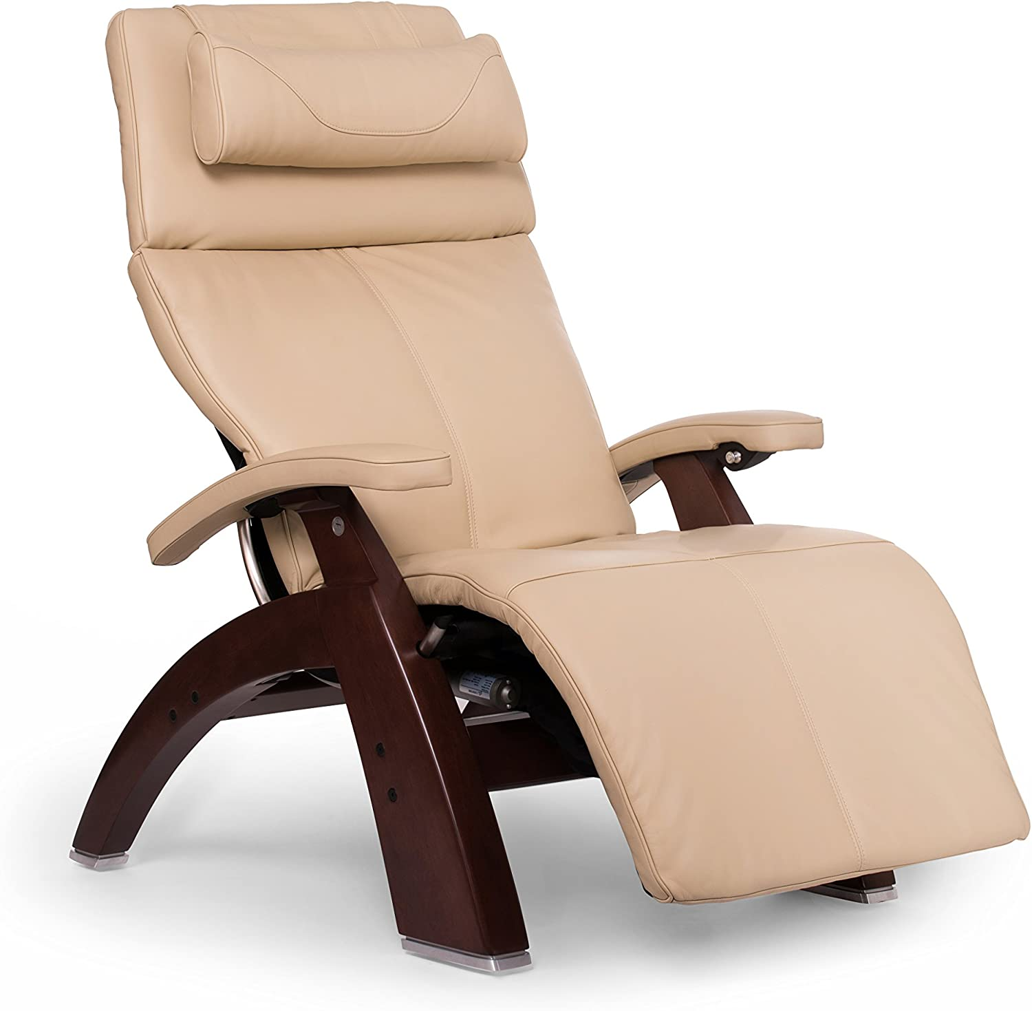 "Perfect Chair ""PC-610 Omni-Motion Classic"" Premium Full Grain Leather Zero Gravity Recliner, Ivory"
