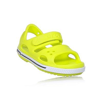 617682384034 Crocs Crocband II Sandal PS Tennis Ball Green Croslite 7 UK Child