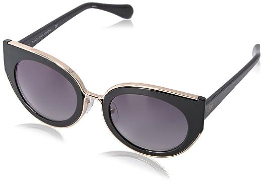 9c790d0bb Diane Von Furstenberg Women's DVF626S Norah Round Sunglasses, Black, ...