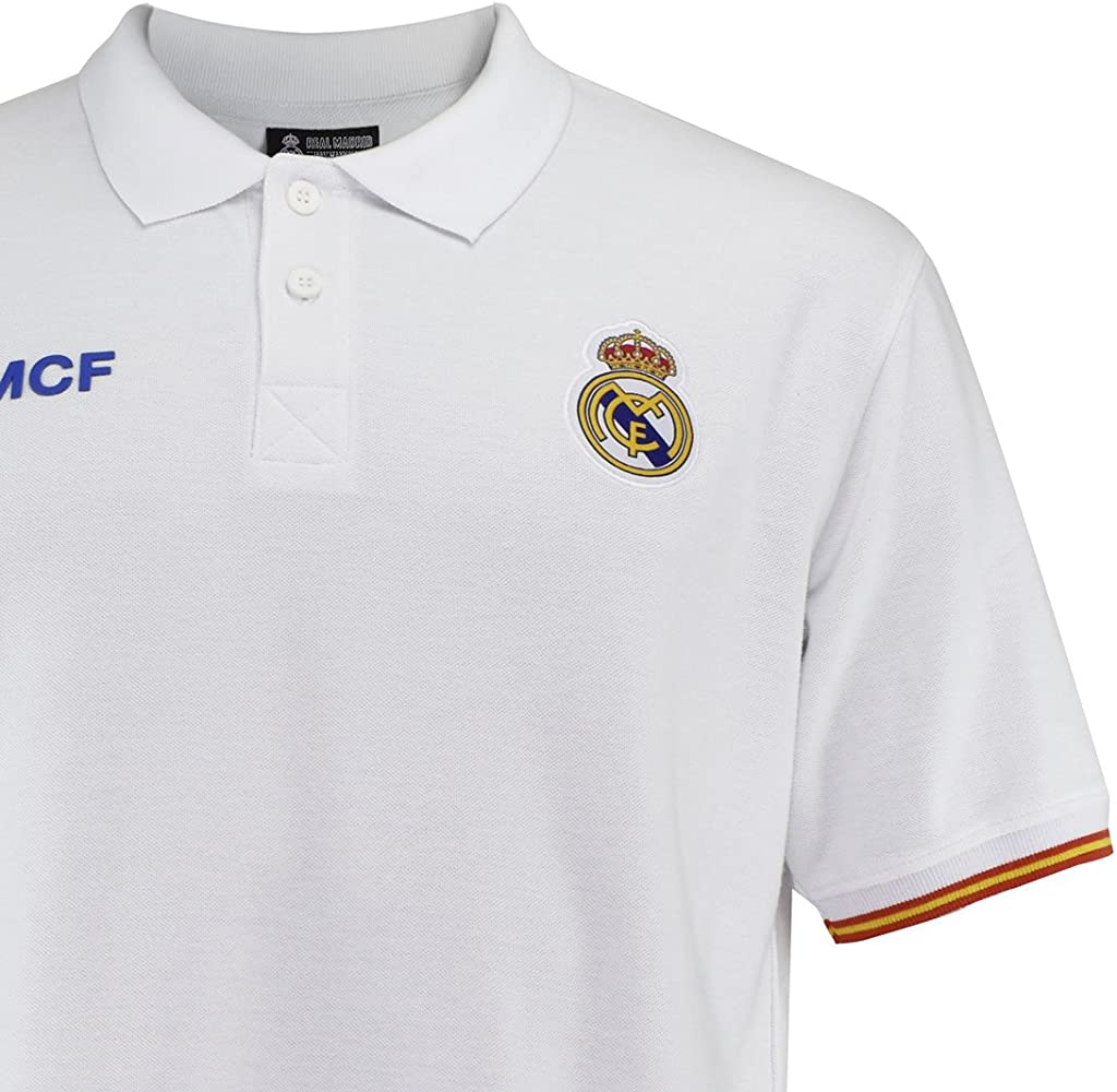 Real Madrid Polo Nº 1 Blanco T-S: Amazon.es: Ropa y accesorios