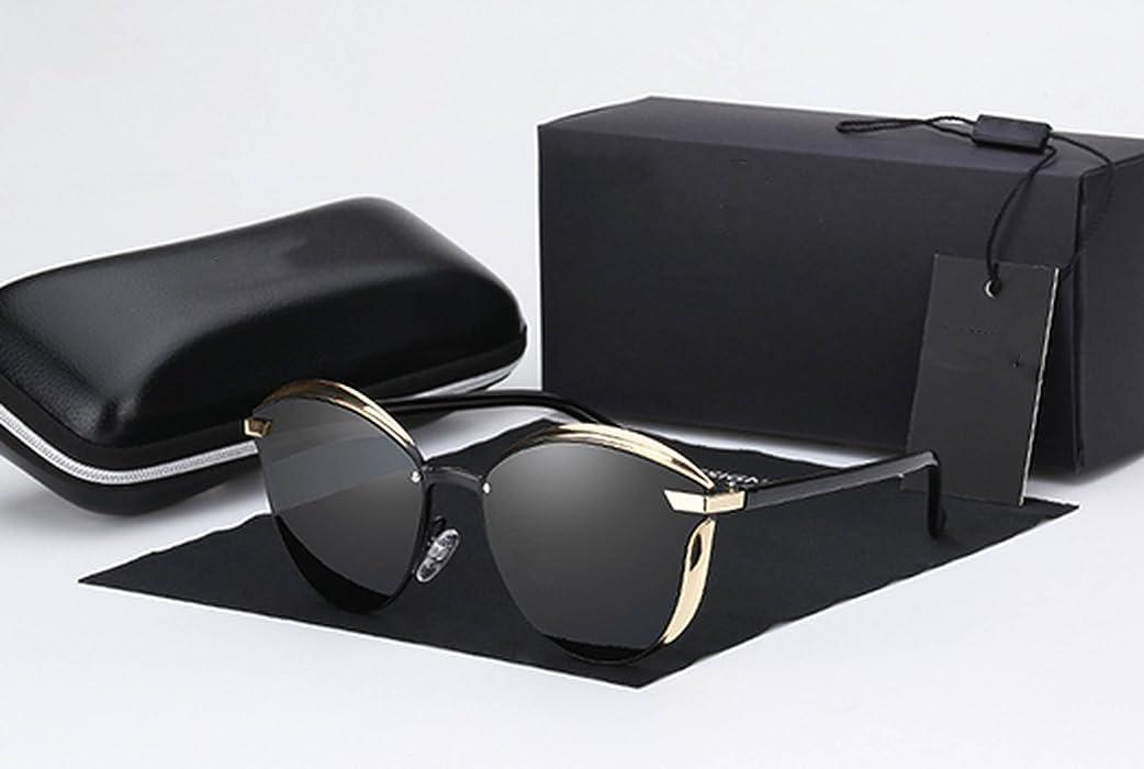 d291148de3 Amazon.com  Homesuns Luxury Women Sunglasses Fashion Round Ladies Vintage  Retro Brand Designer Oversized Female Sun Glasses oculos