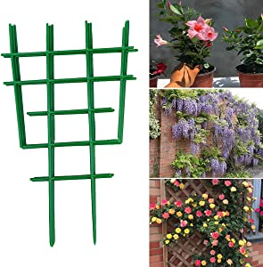 Yinuoday 10Pcs Trellis for Climbing Plants, Garden Small Trellis for Potted Plants Mini Climbing Plant Stakes for Indoor Outdoor Vines Vining Patio Moss Flower Vegetable
