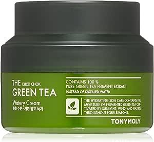 TONYMOLY The Chok Chok Green Tea Watery Cream, 3.4 Fl Oz