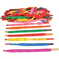 Nrpfell 100 x Assorted Colors Long Rocket Balloons with Tube Party Fillers Fun Toys Kids